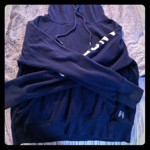 Victoria's Secret navy blue hooded sweatshirt